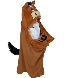 Horse Critter Hooded Blanket by Lazy One