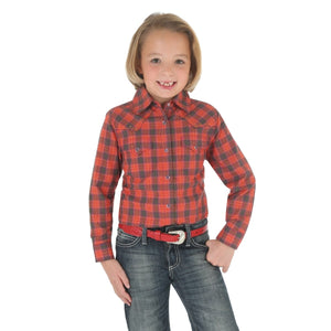 Girls' Rock 47® By Wrangler® Western Red Plaid Top