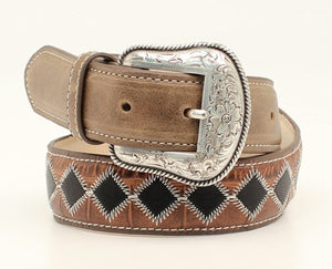 Kids Black/Brown Pacthwork Belt by Nacona