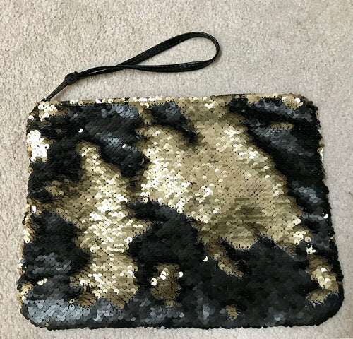 Black Sequin Wristlett