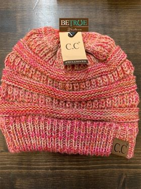 Exclusive CC Beanie - Olive/Pink