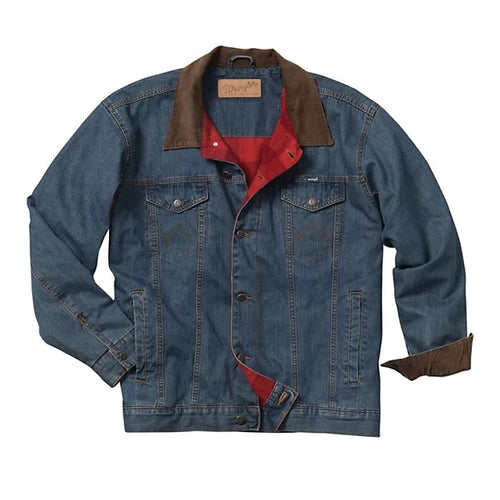 Boys Wrangler Blanket Lined Denim Jacket
