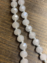 Grey Long Crystal Beaded Necklace