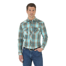 Wrangler Dyed Poplin Plaid Long Sleeve Shirt