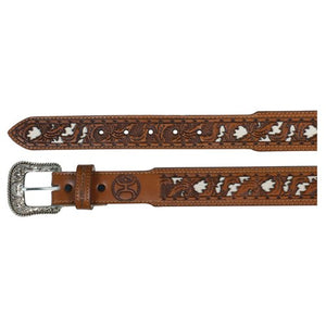 HOOey Belt Chestnut Tooled