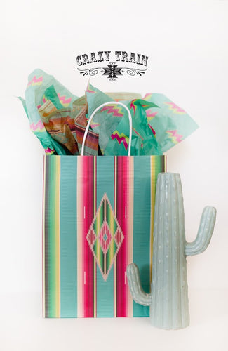Crazy Train Medium Saltillo Turquoise Serape Gift Bag