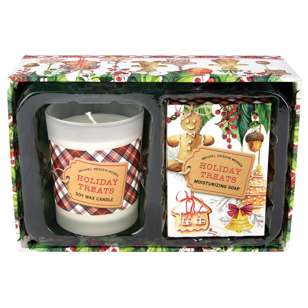 Michel Design Works Holiday Treats Candle and Soap Gift Set