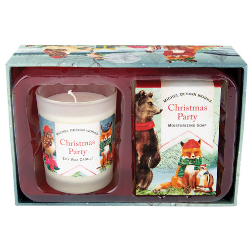Michel Design Works Christmas Party Candle and Soap Gift Set