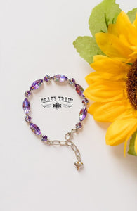 Crazy Train Purple Cactus Queen Bling Bracelet