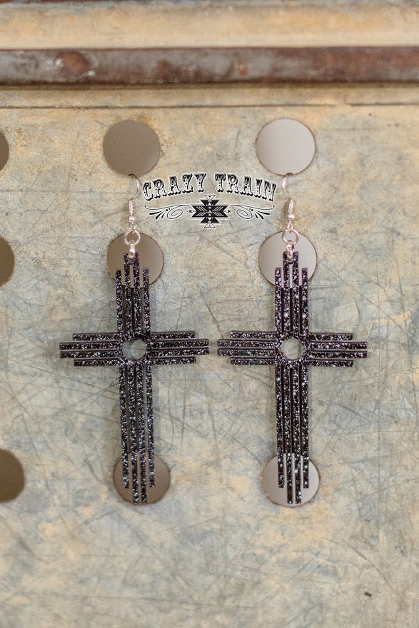 Crazy Train Carrying Your Love Black/White Earrings