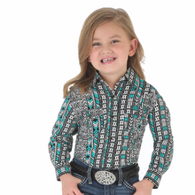 Wrangler Girls Western Green/ Black Top