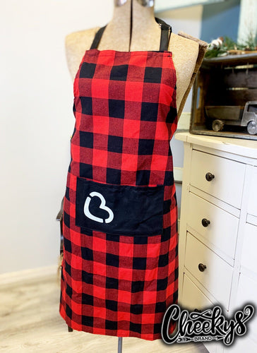 Cooksey Red & Black Plaid Apron