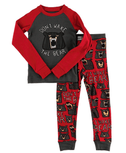 Don't Wake the Bear Kids Pajama Set