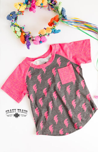 Crazy Train Pink Cosmic Love Bolt Tee