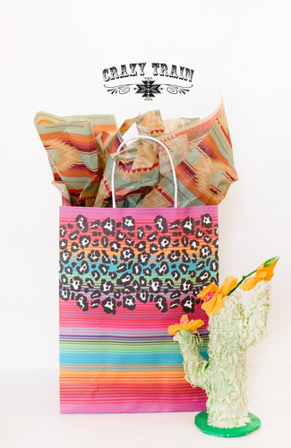 Crazy Train Medium Lisa Frank Serape Gift Bag