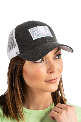 Women's Charcoal Trucker Cap- CINCH