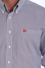 Men's Printed Long-Sleeve Button-Down Shirt- CINCH