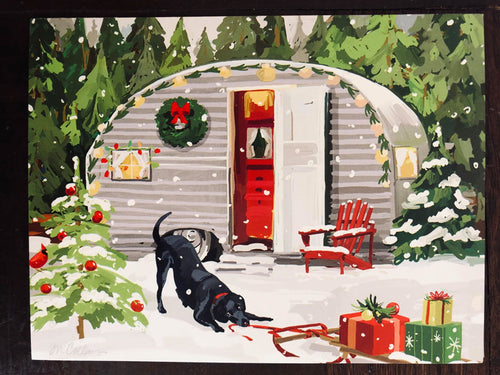 Leanin' Tree Dog and Camper Christmas Cards