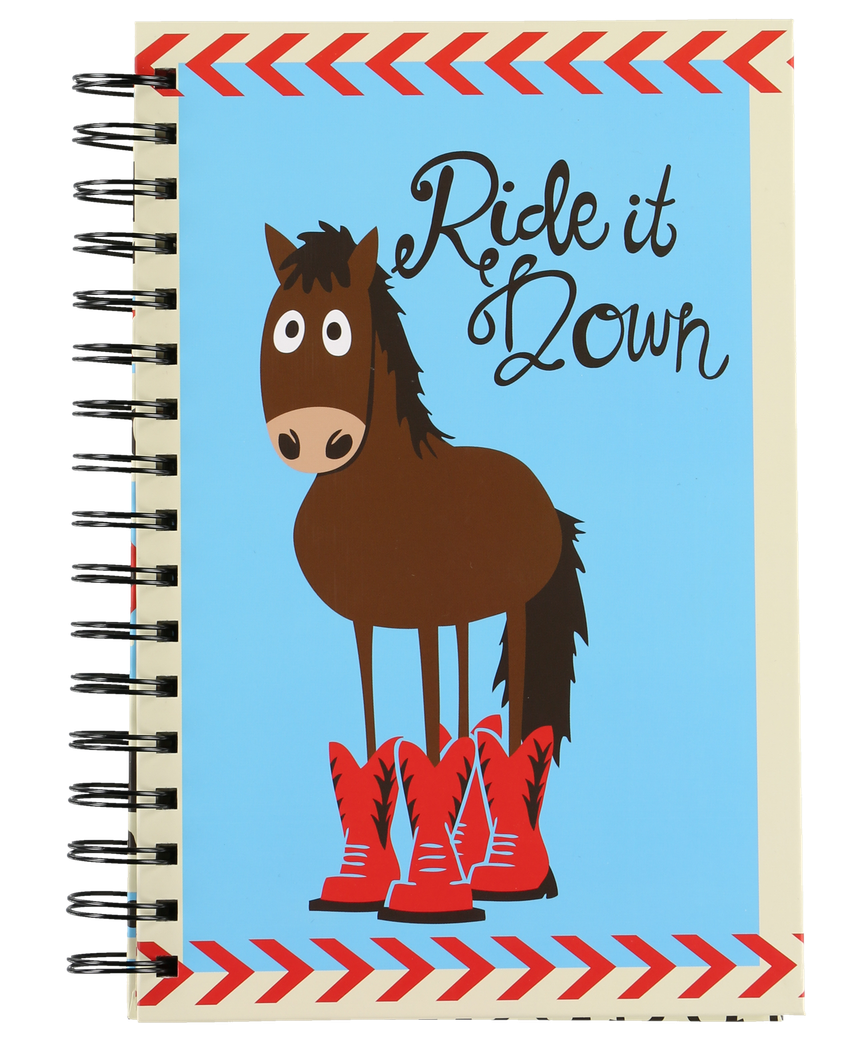 Ride it Down Horse Notebook by Lazy One