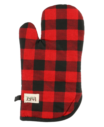 Red Plaid Oven Mitt by Lazy One
