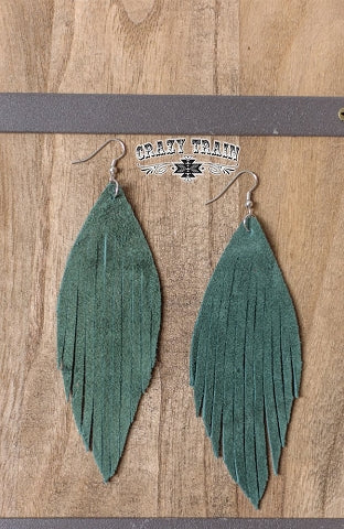Crazy Train Olive Frenzy Earrings