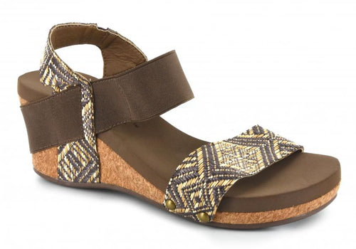 Corkys Splendor Brown Wedge