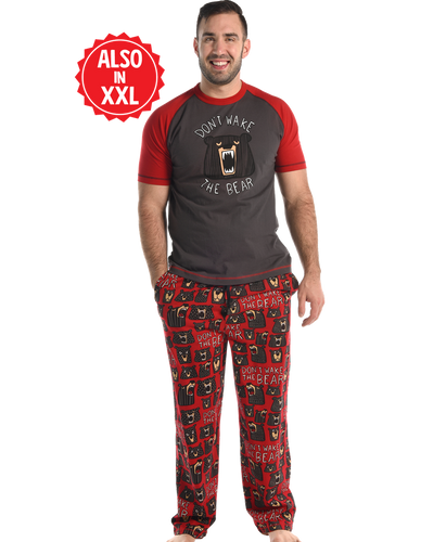 Lazy One Don't Wake The Bear | Men's Pajama Set