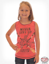 Girls Cowgirl Tuff Never Give Up Tank