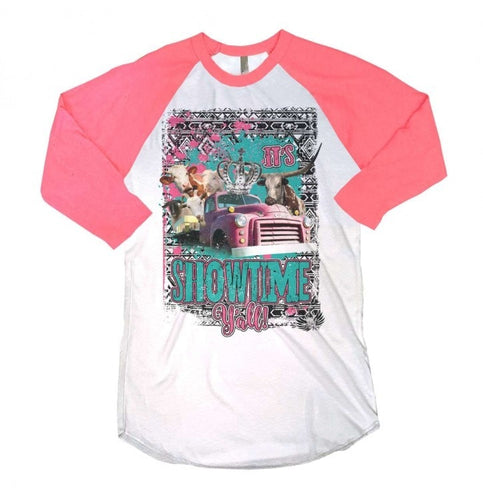Showtime Yall Girls Baseball Tee