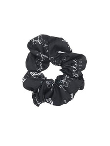 Girlie Girl Black/White Scrunchie