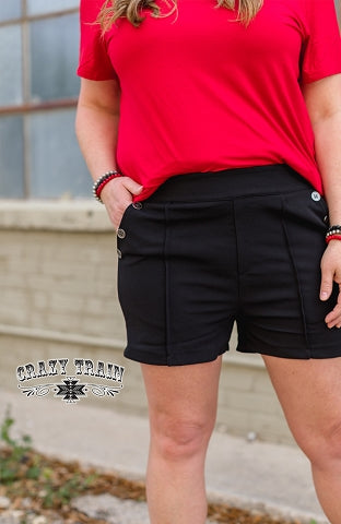 Crazy Train Closet Staple Black Shorts