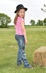 Girls Aztec Cowgirl Tuff Jeans