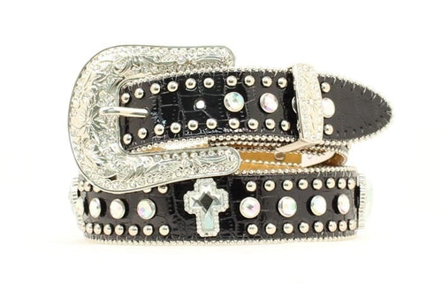Nocona Children's Rhinestone and Crocodile Print Belt