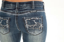 Studded Barbed Wire Cowgirl Tuff Jeans