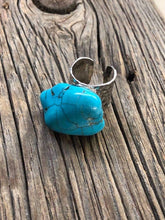 Turquoise Chunk on Cuff Ring
