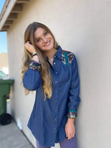 Crazy Train Denim Rancheros Tunic