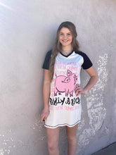 Hogs and Kisses Pig Women's Nightshirt