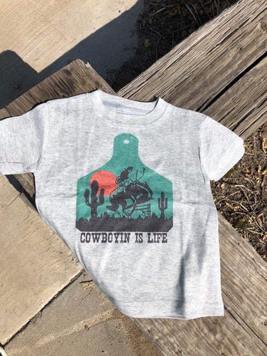 Kids Cowboyin' is Life Bronc Tag Tee
