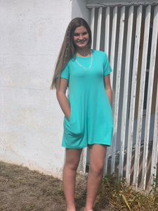 Crazy Train Turquoise Twirl Dress