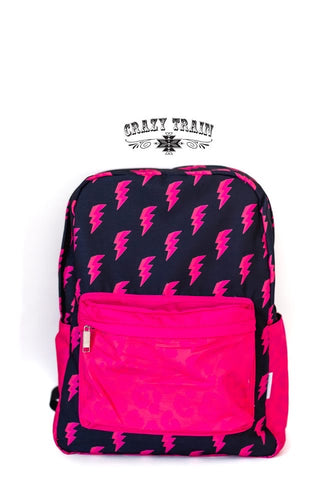 Crazy Train Pink Bolt Crash Course Backpack