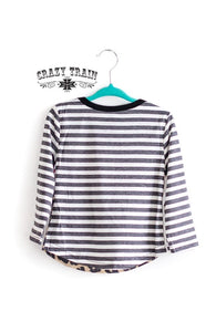 Crazy Train Pink Acid Washed and Striped Swankalicious Tee