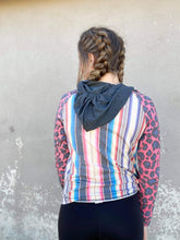 Crazy Train Pink Striped and Leopard Abracadabra Hoodie