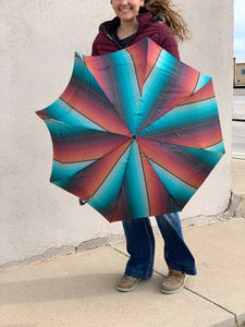 Crazy Train West Texas Serape Rain Umbrella