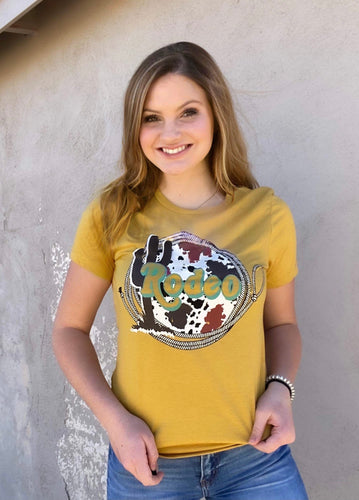 Mustard Cactus and Hide Rodeo Tee