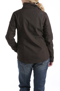 Cinch Womens Chocolate/Cranberry Conceled Carry Bonded Jacket