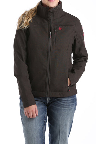 Cinch Womens Conceled Carry Bonded Jacket - Chocolate/Cranberry