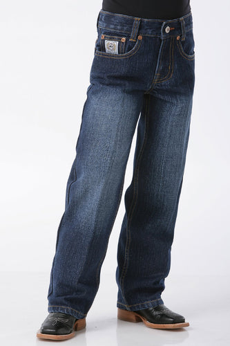 Cinch Boy's White Label Dark Wash Jeans