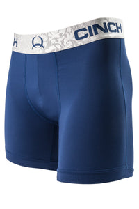"Cinch Mens Navy with Charcoal Band 6"" Boxer Briefs"