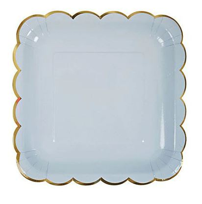 Blue Fog - Square Plate - Miss Decorate