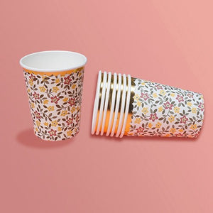 Retro Floral Cups - Miss Decorate